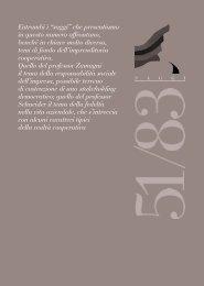 saggi - Istituto italiano di studi cooperativi Luigi Luzzatti