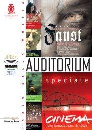 OTTOBRE 2006 - Auditorium Parco della Musica