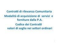Contratti di rilevanza e metodi di calcolo (lez. 3) - Italia degli Innovatori