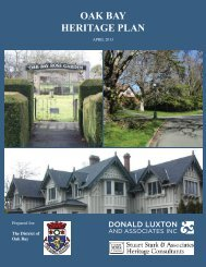 oak bay heritage plan