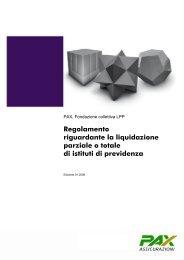Regolamento riguardante la liquidazione parziale o totale di istituti ...