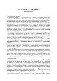Come parlano i bambini stranieri - Rete di Treviso Integrazione ...