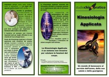 Volantino Kinesiologia Applicata - Mondochiropratico