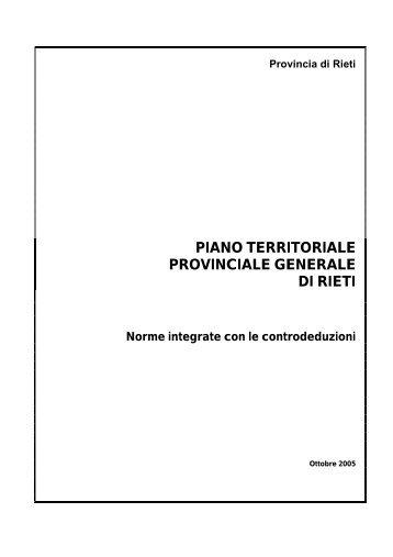 PIANO TERRITORIALE PROVINCIALE ... - Provincia di Rieti