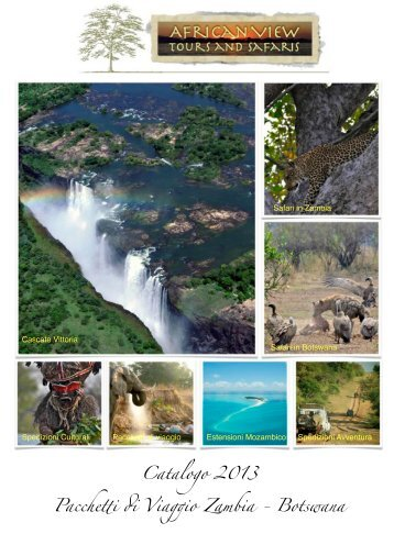 pacchetti ITA 2013 - African View Tours and Safaris
