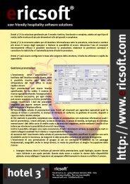 Scarica la brochure della scheda tecnica di hotel 3 - Ericsoft