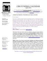 April 2010 CBO Funding Calendar - Brooklyn College - CUNY