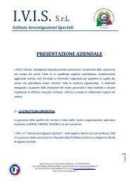 Brochure Classica - IVIS Istituto Investigazioni Speciali