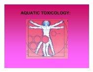 AQUATIC TOXICOLOGY: