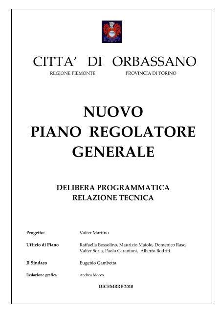 Prgc Documento Programmatico Comune Di Orbassano