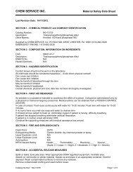 download MSDS - Chem Service, Inc.