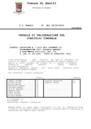 verbale di deliberazione del consiglio comunale - Comune di Amalfi