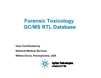 Forensic Toxicologist&nbspResearch Paper