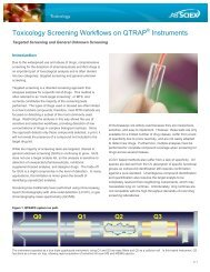 Toxicology Screening Workflows on QTRAP® Instruments - AB Sciex