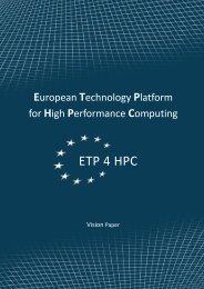 ETP 4 HPC - The European Technology Platform for High ...