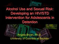 Alcohol Use and Sexual Risk: Developing an HIV/STD ... - CHIP