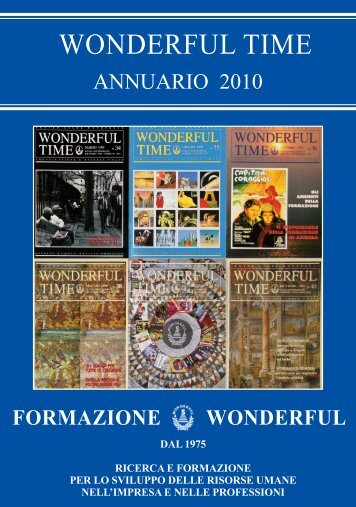 WONDERFUL TIME Annuario 2010