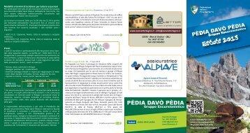 Scarica qui il nuovo programma pdf per l' estate ... - Pédia Davò Pédia