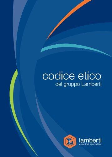 Codice Etico - Lamberti SpA