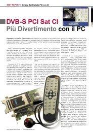 DVB-S PCI Sat CI Più Divertimento con il PC - TELE-satellite ...