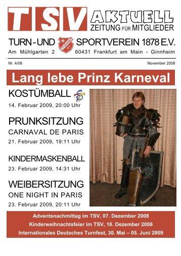 TSV aktuell - November 2008 - TSV Ginnheim