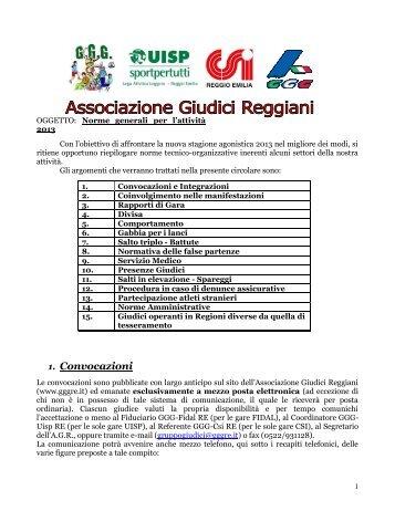 Norme generali AGR 2012 - Associazione Giudici Reggiani