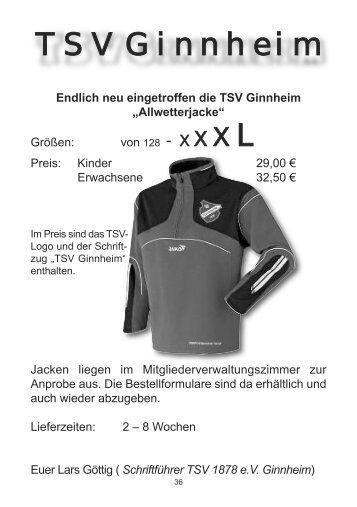 Bestellformular - TSV Ginnheim