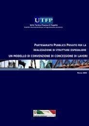 un modello di convenzione di concessione di lavori - UTFP