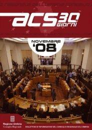 Mensile ACS - Novembre 2008 - Consiglio Regionale dell'Umbria