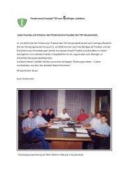 Infoblatt zum 5-jährigen Jubiläum - TSV Gussenstadt