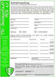 Aufnahmeantrag 2008 - TSV Gussenstadt