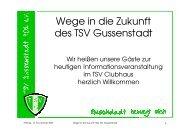 Wege in die Zukunft des TSV Gussenstadt