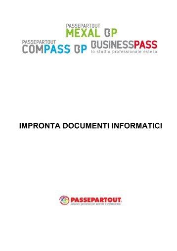 Comunicazione Impronta Documenti Informatici - Passepartout