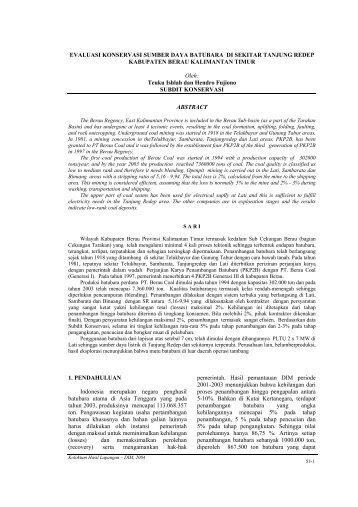 53. konservasi - berau, kaltiml.pdf - Pusat Sumber Daya Geologi