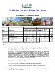 2D1N Tanjung Pinang City & Market Tour Package - Heritage Travel ...