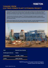 tanjung priok gas fired power plant extension project - tebeton