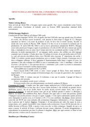 - Matters arising (Rino): - Tracker Italian Software Board Home Page