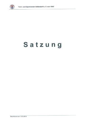 Vereinssatzung - TSV Hallendorf
