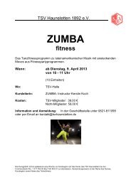 Zumba am Vormittag Flyer April 2013 - TSV Haunstetten