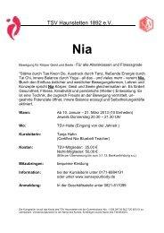 Nia Flyer Januar 2013x - TSV Haunstetten