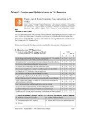 Anhang 1: Checkliste zur Mitgliederwerbung bei ... - TSV Haunstetten
