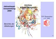 Alpin/Skisport - TSV Haunstetten