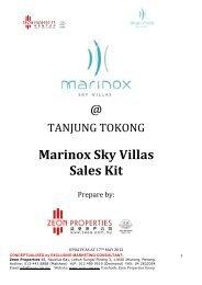Marinox Sky Villas Sales Kit - zeon properties group