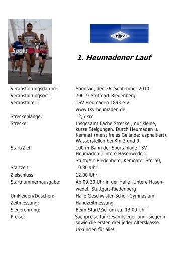 1. Heumadener Lauf - TSV Heumaden 1893 eV