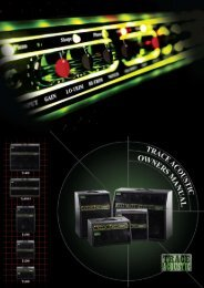 Trace Elliot TA100 Acoustic Guitar Amplifier Manual - American ...
