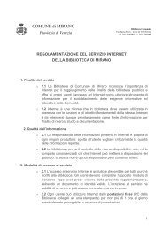 Regolamento per l'accesso ad Internet in Biblioteca - Comune di ...