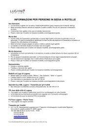informazioni per persone in sedia a rotelle - Lugano Turismo