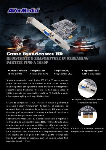Game Broadcaster HD - AVerMedia