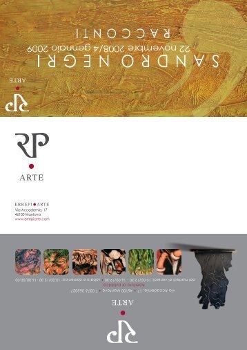 SandroNegri - Racconti - Invito - ErrePi Arte
