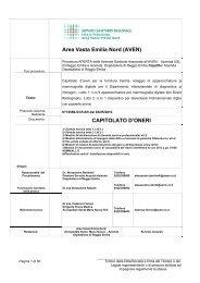 Capitolato d'oneri formato PDF - Arcispedale S. Maria Nuova